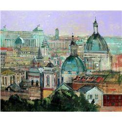 """Alex Zwarenstein """"Rome Rooftops"""" Giclee on Canvas"""