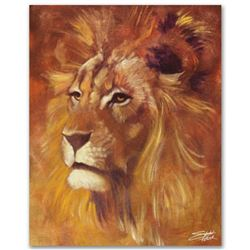 """""""Lion"""" Limited Edition Giclee on Canvas by Stephen Fishwick, Numbered and Signed. This piece comes G"""