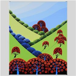 """""""Autumn Fields Forever"""" Limited Edition Giclee on Canvas by Larissa Holt, Numbered and Signed. This"""