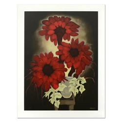 """Brenda Barnum, """"Daisy Red"""" Limited Edition Serigraph, Numbered and Hand Signed with Certificate of A"""