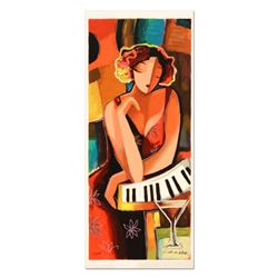 """Michael Kerzner, """"The Pianist"""" Limited Edition Serigraph, Numbered and Hand Signed with Certificate"""