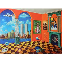 "Alexander Astahov- Original Giclee on Canvas ""New York View"""