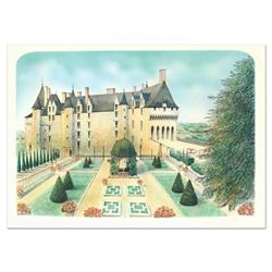 """Rolf Rafflewski, """"Chateau de Langeais"""" Limited Edition Lithograph, Numbered and Hand Signed."""