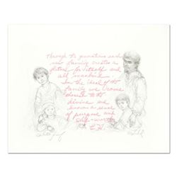 """Edna Hibel (1917-2014), """"Through the Generations"""" Limited Edition Lithograph, Numbered and Hand Sign"""