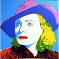 "Andy Warhol- Screenprint in colors ""INGRID BERGMAN With Hat, 315"""