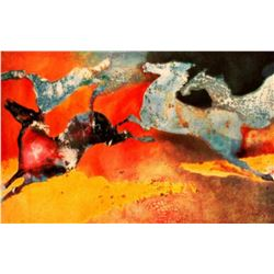 "Edwin Salomon- Original Serigraph ""Summer Dance"""