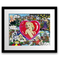 """Charles Fazzino- 3D Construction Silkscreen Serigraph on paper with giclee elements """"LOVE AND KISSES"""
