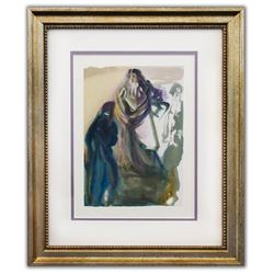"Salvador Dali- Original Color Woodcut on B.F.K. Rives Paper ""Paradise 28"""