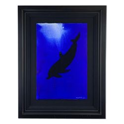 """Wyland, """"Dolphin"""" Hand Signed Original Painting with Certificate of Authenticity."""