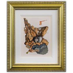 "Salvador Dali- Original Color Woodcut on B.F.K. Rives Paper ""Inferno 7"""