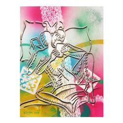 "Mark Kostabi ""The Fabric Of Passion"" Hand Signed Original Artwork with COA."