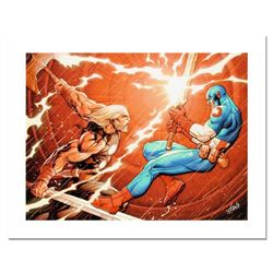 """Stan Lee Signed, """"Ultimate New Ultimates #4"""" Numbered Marvel Comics Limited Edition Canvas by Frank"""