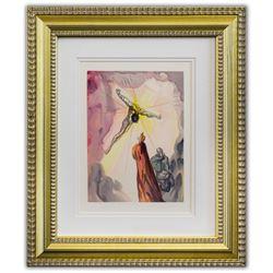 "Salvador Dali- Original Color Woodcut on B.F.K. Rives Paper ""Paradise 14"""