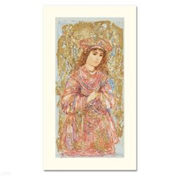 """""""Book of Hours I"""" Limited Edition Serigraph by Edna Hibel (1917-2014), Numbered and Hand Signed with"""