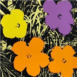 "Andy Warhol- Silk Screen ""Flowers 11.67"""