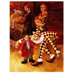 """Yuroz, """"The Harlequin's Gift"""" Hand Signed Limited Edition Serigraph on Canvas with Certificate of Au"""