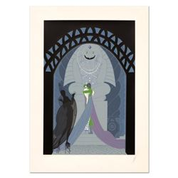 "Erte (1892-1990), ""Lovers and Idol"" Limited Edition Serigraph, Numbered and Hand Signed with Certifi"