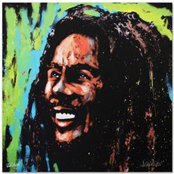 """Bob Marley (Marley)"" Limited Edition Giclee on Canvas (36"" x 36"") by David Garibaldi, Numbered and"