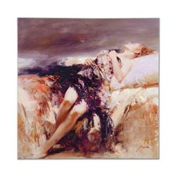 "Pino (1939-2010), ""Ecstasy"" Artist Embellished Limited Edition on Canvas (36"" x 36""), AP Numbered an"