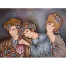 "Haya Ran- Original Serigraph ""Brides maids"""
