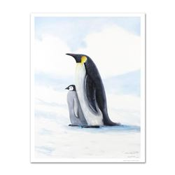 """""""Antarctic Penguins"""" Limited Edition Giclee on Canvas by Renowned Artist Wyland, Numbered and Hand S"""