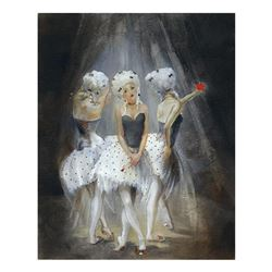 """Lena Sotskova, """"Old Play"""" Hand Signed, Artist Embellished Limited Edition Giclee on Canvas with COA."""