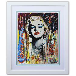 "Nastya Rovenskaya- Original Mixed Media on Paper ""Marilyn Monroe II"""