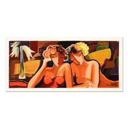 """Michael Kerzner, """"Sisters"""" Limited Edition Serigraph, Numbered and Hand Signed with Certificate of A"""