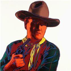 "Andy Warhol- Screenprint in colors ""John Wayne, 1986"""