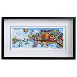 """Charles Fazzino- 3D Construction Silkscreen Serigraph """"An Atlantic City Summer"""""""
