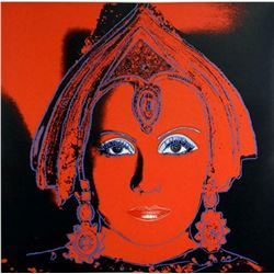 """Andy Warhol- Screenprint in colors with diamond dust """"The star, 1981"""""""