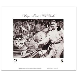 """""""Bugs Meets The Babe"""" is a Collectible Lithograph from Warner Bros., Bearing the Official Seal of Au"""