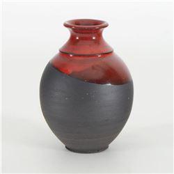 Hand Made Ceramic Vase Sculpture by Eugenijus Tamosiunas! Hand Signed.
