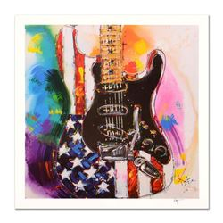 """KAT, """"American Stratocaster"""" Limited Edition Lithograph, Numbered and Hand Signed with Certificate o"""