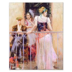 """Pino (1939-2010), """"Family Time"""" Artist Embellished Limited Edition on Canvas (32"""" x 40""""), Numbered a"""