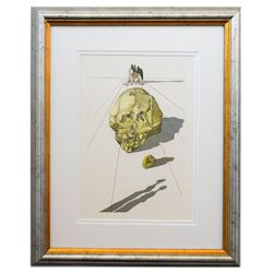 "Salvador Dali- Original Color Woodcut on B.F.K. Rives Paper ""Inferno 23"""