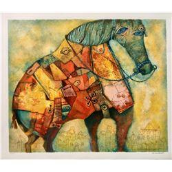 "Gregory Kohelet- Original Serigraph ""Horse"""