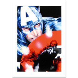 """Stan Lee Signed, """"Captain America #37"""" Numbered Numbered Marvel Comics Limited Edition Canvas by Jac"""