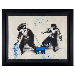 """Mr Brainwash, """"Watch Out!"""" Framed Limited Edition Silk Screen. Hand Signed and Numbered 6/25; Letter"""