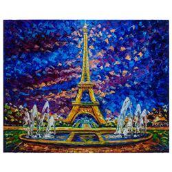 "Svyatoslav Shyrochuk- Original Giclee on Canvas ""Paris View"""