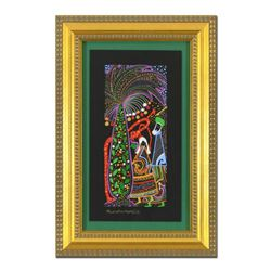 """Raphael Abecassis""""The Garden of Eden"""" Hand Signed Framed Original Painting with COA."""