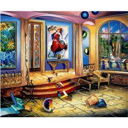"Alexander Astahov- Original Giclee on Canvas ""Modern Room"""