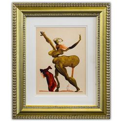 "Salvador Dali- Original Color Woodcut on B.F.K. Rives Paper ""Inferno 33"""