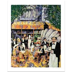 """Guy Buffet, """"Brasserie Kholer"""" Limited Edition Serigraph; Numbered and Hand Signed with Certificate"""