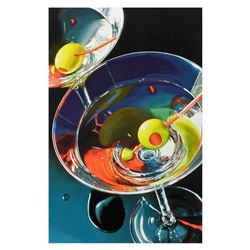 """Nobu Haihara, """"Two Martinis"""" Limited Edition Canvas, Signed and with COA."""