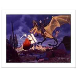 """Eowyn And The Nazgul"" Limited Edition Giclee on Canvas by The Brothers Hildebrandt. Numbered and Ha"