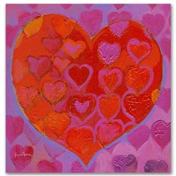 """Playful Heart VI"" Limited Edition Giclee on Canvas by Simon Bull, Numbered and Signed. This piece c"