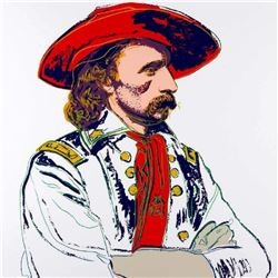 """Andy Warhol- Screenprint in colors """"General Custer, 1986"""""""