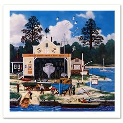 Jane Wooster Scott,  Salem Shipyard  Hand Signed Limited Edition Lithograph with Letter of Authentic