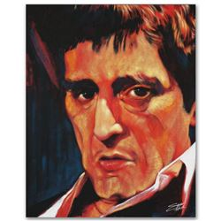 Pacino  Limited Edition Giclee on Canvas by Stephen Fishwick, Numbered and Signed. This piece comes